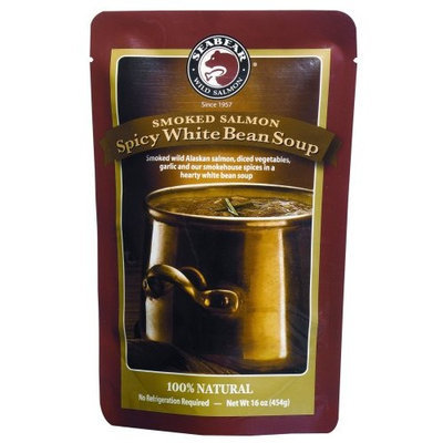 SeaBear Spicy White Bean Soup with Smoked Salmon, 16 Ounce Unit