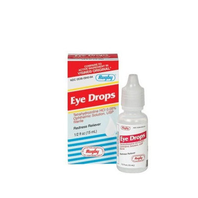 Rugby Laboratories Rugby Tetrahydrozoline HCl 0.05% 15mL *Compare to Visine*