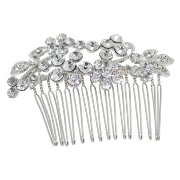 RIVIERA, A STYLEMARK CO Women's Riviera Comb with Crystals - Silver