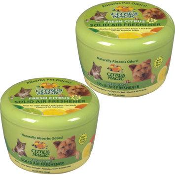 Citrus Magic Pet 20-Ounce Solid Air Freshener, 2-Pack, Fresh Citrus