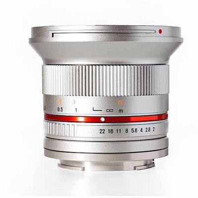 Rokinon 12mm f/2.0 Ultra Wide Angle Lens (Silver) (for Fujifilm X Cameras)
