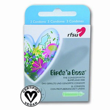 RFSU Condoms, Birds'N Bees - Bumped and Ribbed, 3 ea