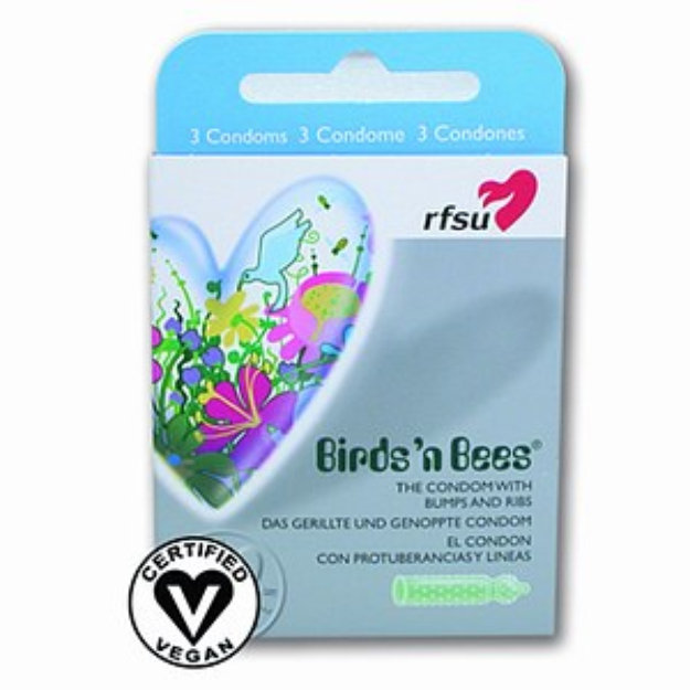 RFSU Condoms, Birds'N Bees - Bumped and Ribbed, 3 ea