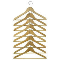 Ikea Wood Curved Clothes Hanger, 8 Pack, Natural