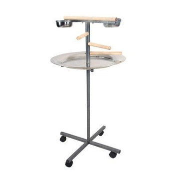 A&e Cage A and E Cage Co. Round Play Stand with Wooden Steps