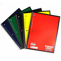 3 Subject Notebook, Wide Ruled, 120 Sheet, 5pc