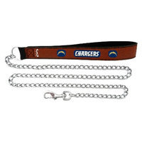 GameWear San Diego Chargers Football Leather 2.5mm Chain Leash - M