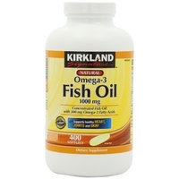 Kirkland Signature Natural Fish Oil Concentrate with Omega-3 Fatty Acids, 400 Softgels, 1000mg