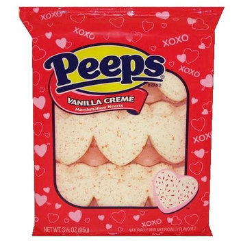 Peeps Vanilla Creme Marshmallow Hearts