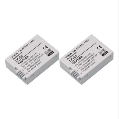 Replacement Battery For Canon LP-E8 (2 Pack)