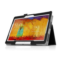 Black Double-Fold Folio Case for Samsung Galaxy Note 2014 10.1