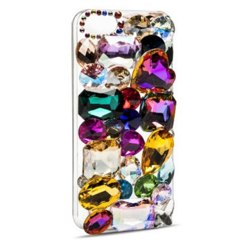 Women's Jeweled Cell Phone Case - Multicolor