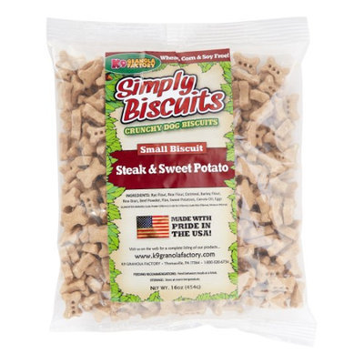K9 Granola Factory Simply Biscuits Steak Dog Treat Small 1lb