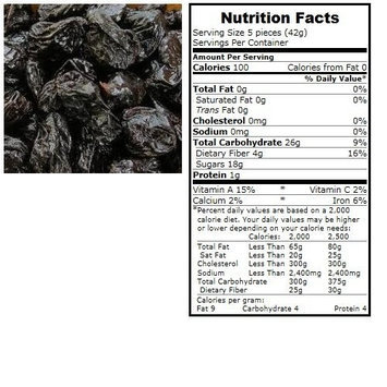 BULK B Prunes, Organic, Pitted, lb (pack of 30 )