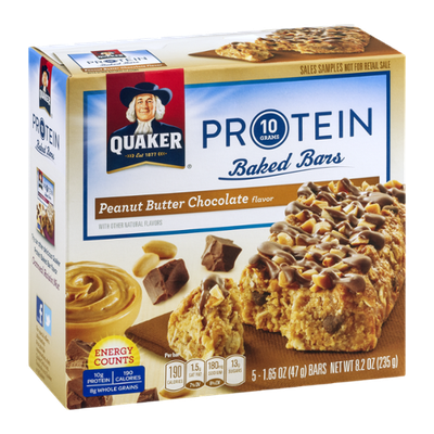 Quaker® Protein Baked Bars Peanut Butter Chocolate Flavor