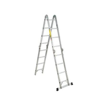 Werner Extension Ladder:  Aluminum 18-Position Folding Multi-Ladder