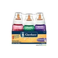 Gerber Baby Bottle 5oz Fashion Tints (Two 3 Packs)