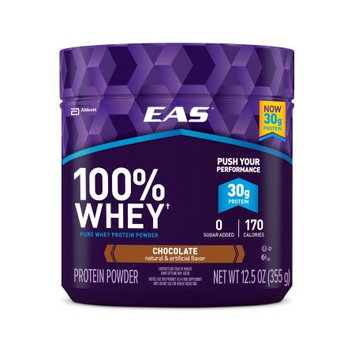 Abbott Nutrition EAS 100% Whey Protein Powder Chocolate Dietary Supplement, 12.5 oz, (Pack of 12)
