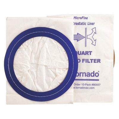 TORNADO 90557 Filter Bag, Paper,10 qt, PK10