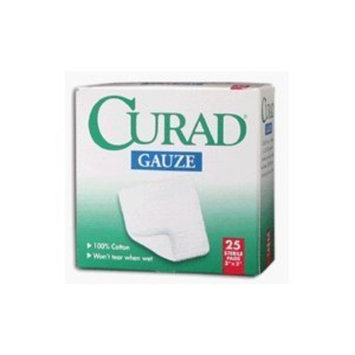 Beiersdorf Inc. Curad Gauze Pads Sterile 3 Inches X 3 Inches --- 25
