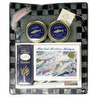 Kasilof Fish Company Smoked Sockeye Salmon and Checkered Photo Frame, 17.5-Ounce Unit