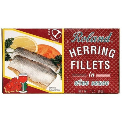 Roland Herring Fillets in Wine Sauce, 7-Ounce Cans (Pack of 6)