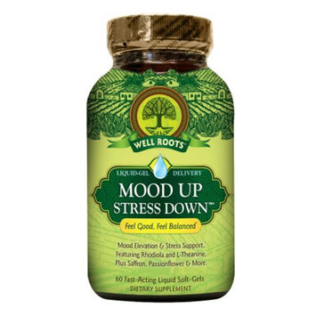Well Roots Mood Up Stress Down, Softgels, 60 ea