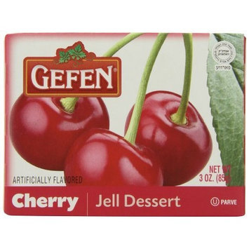 Gefen Jello Cherry, 3-Ounce (Pack of 24)