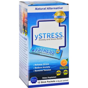 yStress Anxiety and Stress Relief 12 Stick Packets Essential Source