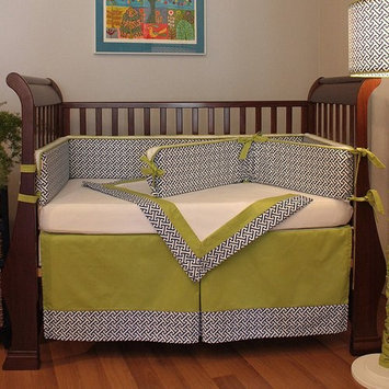 Hoohobbers Maze 4-piece Crib Bedding Set - Blue