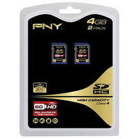 PNY Technologies 2-Pack 4GB Secure Digital (SDHC) Memory Card