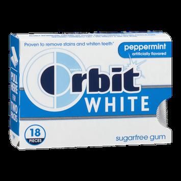 Wrigley's Orbit White Sugar Free Gum Peppermint - 18 CT