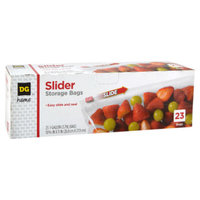DG Home Slider Storage Bags - Gallon Size - 23 CT