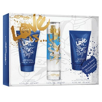 Ed Hardy Love Is Cologne Gift Set - Value $75.00
