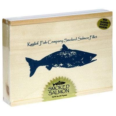 Kasilof Fish Company Alder-Smoked Sockeye Salmon, 5-Ounce Fillet in Gift Box