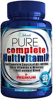 Islands Miracle Daily Multivitamin For Adults + Antioxidant All Natural Sourced Vitamins Not.