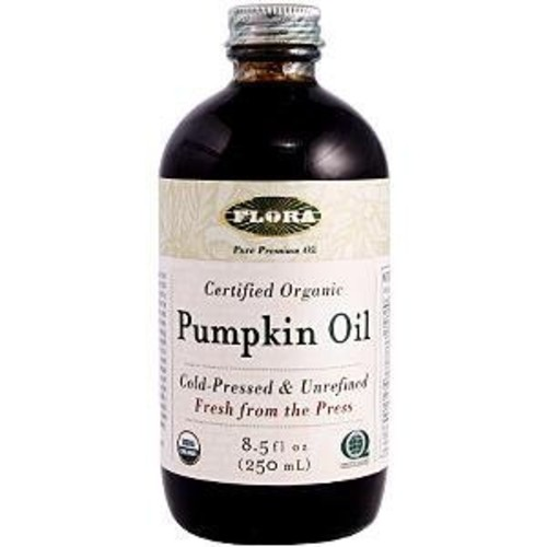 Flora Pumpkin Oil Certified Organic 8.5-Ounce Glass
