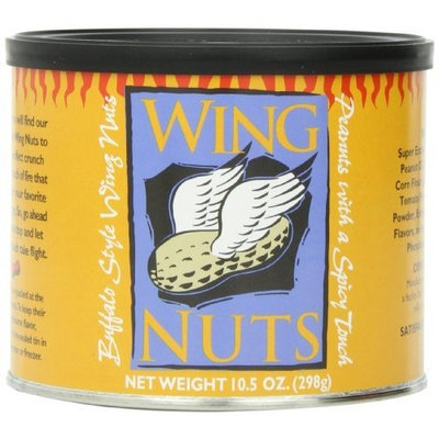 The Peanut Shop of Williamsburg Wing Nuts, 10.5-Ounce Tins (Pack of 4)