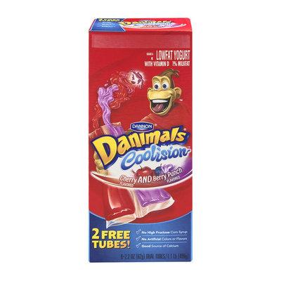 Danimals® Coolision Cherry and Berry Punch Lowfat Yogurt Dual Tubes