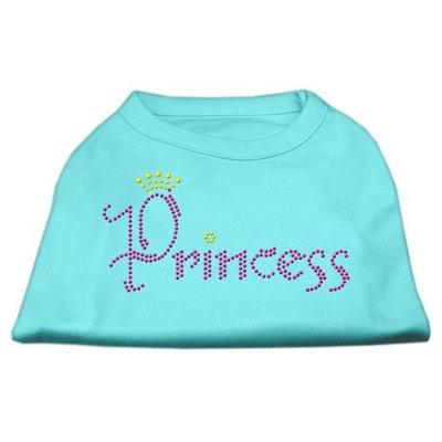 Mirage Pet Products 5267 XXXLAQ Princess Rhinestone Shirts Aqua XXXL 20