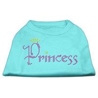 Mirage Pet Products 5267 XLAQ Princess Rhinestone Shirts Aqua XL 16