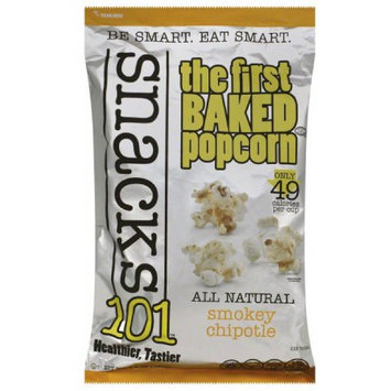 Snacks 101 Snacks101 The First Baked Popcorn Smokey Chipotle Popcorn, 4.5 oz, (Pack of 12)