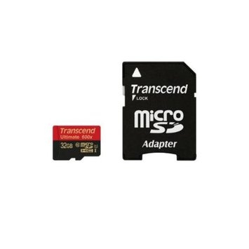 Transcend microSDHC Class 10 UHS-I 600x - 32GB, MLC Flash-based Performance, Supports Ultra High Speed, Built-In Error C
