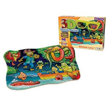 Patch Products 3D Sneaky Puzzle - Midnight Safari: 46 pc Ages 3 and up, 1 ea
