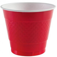 Party Dimensions 84081 9 Oz Solid Red Plastic Cup - 648 Per Case