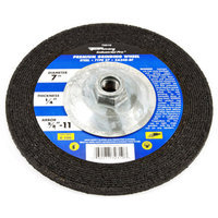 Forney 72310 Grinding Wheel Type 27 Industrial Pro Metal with 5/8-Inch-11 Threaded Arbor ZA24R 7-Inc