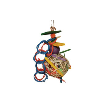 All Living ThingsA Wicker Foraging Bird Toy