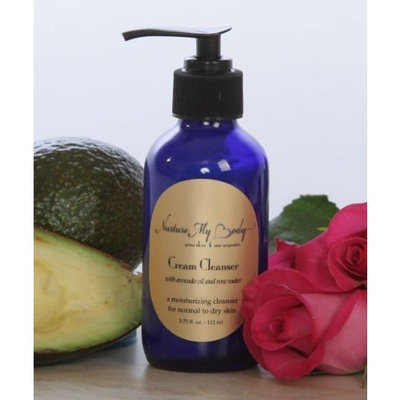 Organic Facial Cream Cleanser & Wash by Nurture My Body - Best for Normal, Dry, Oily, or Sensitive Skin - All Natural!
