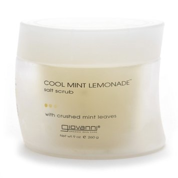 Giovanni Cool Mint Lemon Salt Scrub with Crushed Mint Leaves