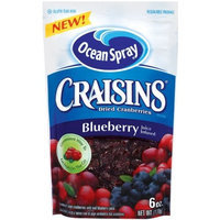 Ocean Spray Craisins Sweetened Dried Cranberries Blueberry Flavored, 6-Ounce (Pack of 6)